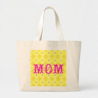 Maman et diamants jaunes sac en toile jumbo