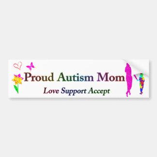 Maman fière d'autisme autocollant de voiture