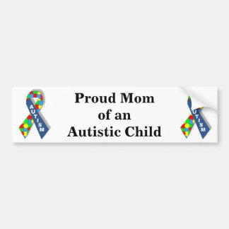 Maman fière d'un enfant autiste autocollant de voiture