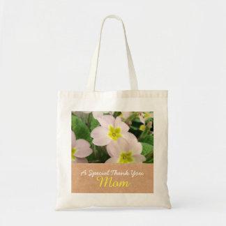 Maman - fleurs de primevère de fête des mères sac en toile budget