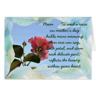 Maman heureuse de jour de mères carte de vœux
