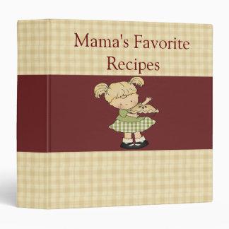 Mama's Favorite Little Cookbook Binder / 1.5 Inch