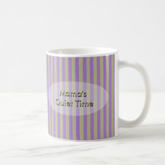 Mama's Quiet Time Stripes with Your Text Coffee Mug
