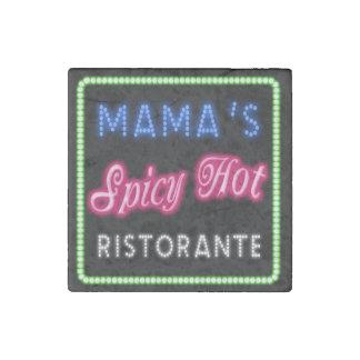 Mama's Spicy Hot Ristorante ID234 Stone Magnets