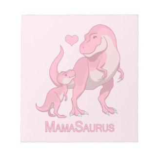 MamaSaurus T-Rex and Baby Girl Dinosaurs Notepad