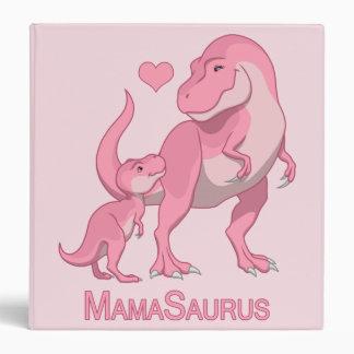 MamaSaurus T-Rex and Baby Girl Dinosaurs Vinyl Binder