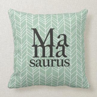 Mamasaurus Throw Pillow