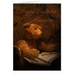 Mamaw Birthday Card - Old Fashioned Teddy Bear