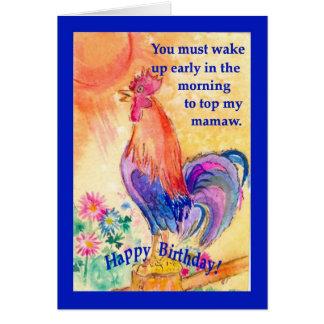 mamaw's birthday card