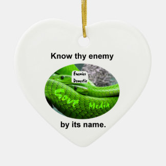 Mamba Snake - Know Thy Enemy By Its Name Ceramic Ornament