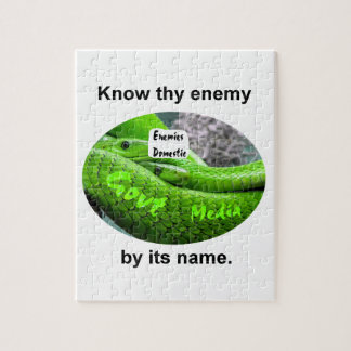 Mamba Snake - Know Thy Enemy By Its Name Jigsaw Puzzle