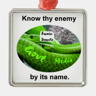 Mamba Snake - Know Thy Enemy By Its Name Metal Ornament