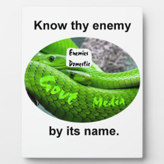 Mamba Snake - Know Thy Enemy By Its Name Plaque