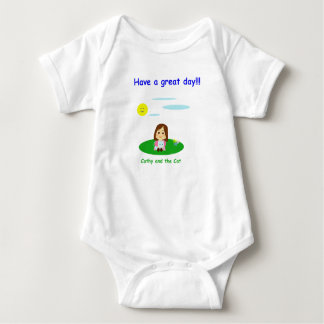 "Mameluco for baby ""To great day! "" Baby Bodysuit"