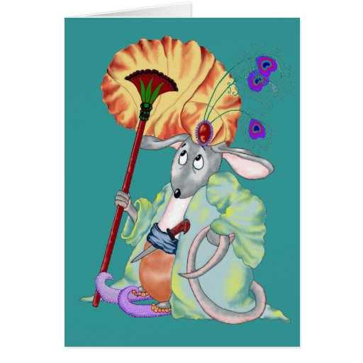 Mamluq Mouse Greeting Card