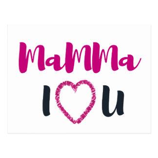 Mamma I <3 You Postcard