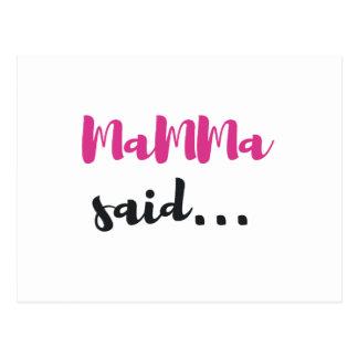 Mamma said.... postcard