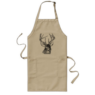 Mammal / Deer / WhiteTailed Deer Head Long Apron