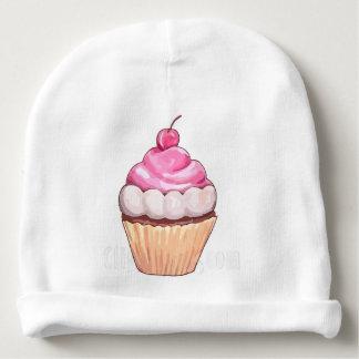 mamma's cherry cupcake baby beanie