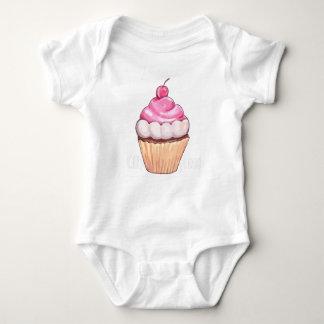 mamma's cherry cupcake baby bodysuit