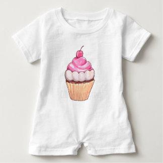 mamma's cherry cupcake baby romper