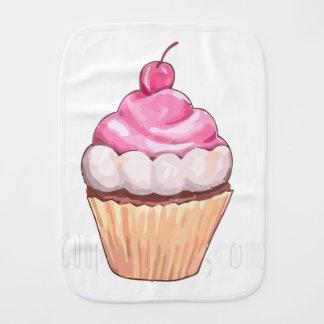 mamma's cherry cupcake burp cloth
