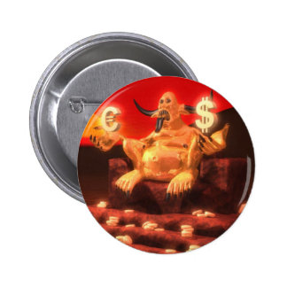 Mammon Demon God of Money Pinback Buttons
