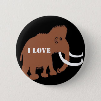 MAMMOTH (2), I LOVE 2 INCH ROUND BUTTON