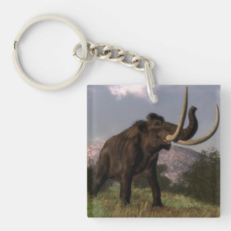 Mammoth - 3D render Double-Sided Square Acrylic Keychain