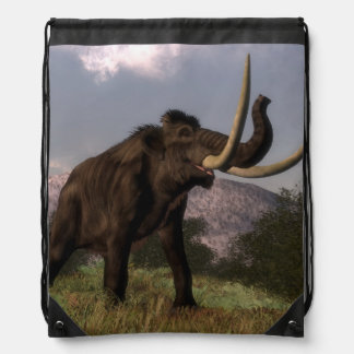 Mammoth - 3D render Drawstring Bag