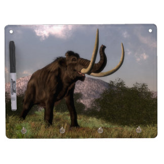 Mammoth - 3D render Dry Erase Board With Keychain Holder
