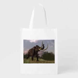 Mammoth - 3D render Grocery Bag