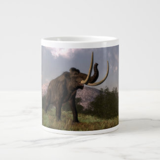 Mammoth - 3D render Large Coffee Mug
