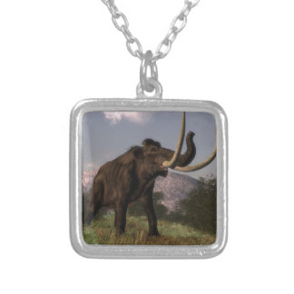 Mammoth - 3D render Silver Plated Necklace