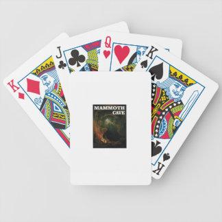 mammoth cave brown bicycle playing cards