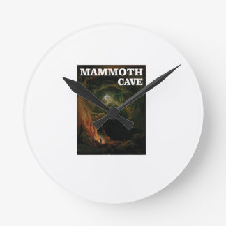 mammoth cave brown round clock