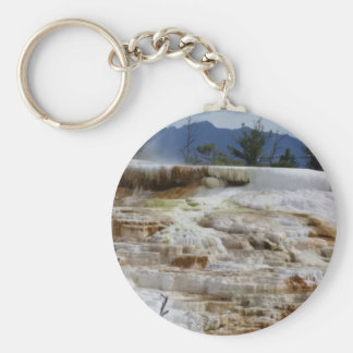 Mammoth Hot Springs Basic Round Button Keychain