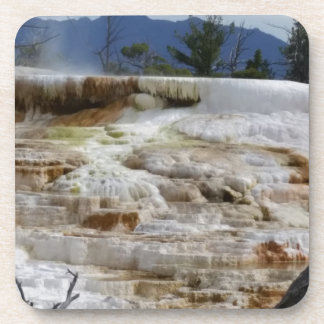 Mammoth Hot Springs Beverage Coaster