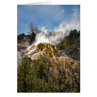 Mammoth Hot Springs - Blank Greeting Card