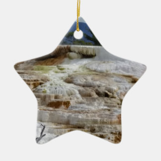Mammoth Hot Springs Ceramic Ornament