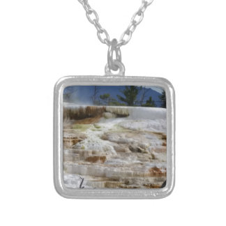 Mammoth Hot Springs Silver Plated Necklace