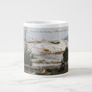 Mammoth Hot Springs, Yellowstone National Park Large Coffee Mug