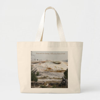 Mammoth Hot Springs, Yellowstone National Park Large Tote Bag