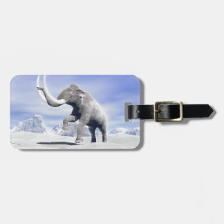Mammoth in the wind bag tag