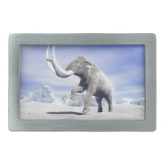 Mammoth in the wind belt buckles