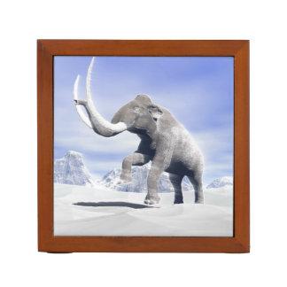 Mammoth in the wind desk organizer