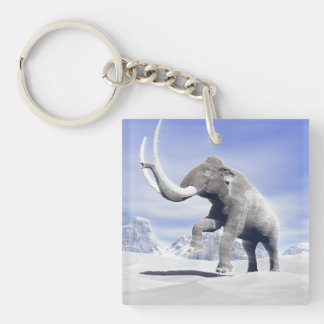 Mammoth in the wind Double-Sided square acrylic keychain