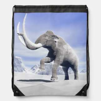 Mammoth in the wind drawstring bag