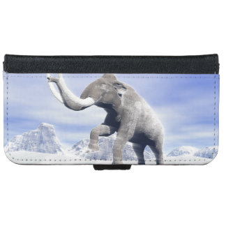 Mammoth in the wind iPhone 6 wallet case