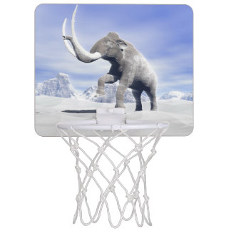 Mammoth in the wind mini basketball backboard